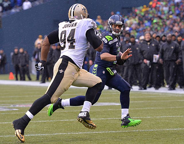 Of all the Saints, Cam Jordan was the most consistent at putting pressure on Wilson.