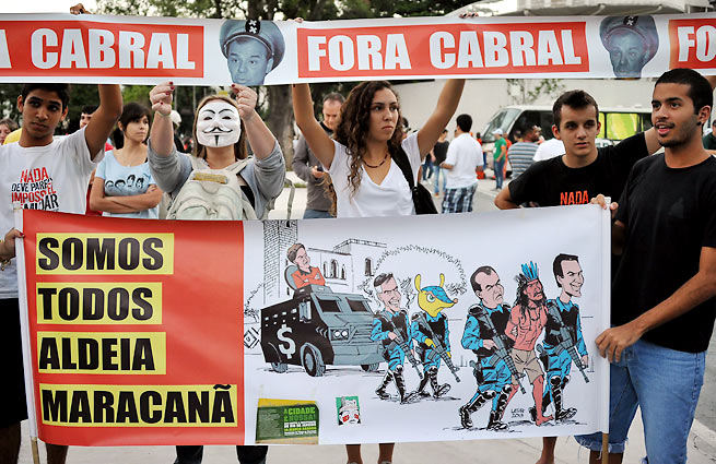 Protests, among other factors, have delayed Rio de Janeiro's preparations for the 2016 Olympics.