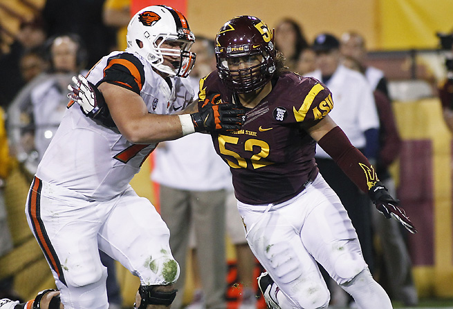 Carl Bradford led Arizona State with 19 tackles for loss last season.