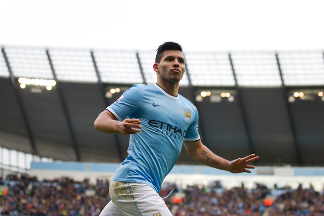Manchester City forward Sergio Aguero is slated to return from a month-long injury absence Wednesday in the club's FA Cup third-round replay against Blackburn.