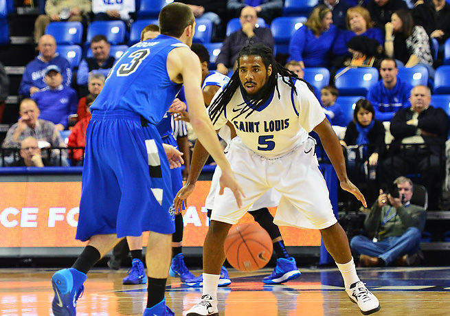 Jordair Jett (5) and Saint Louis have been one of the most surprising teams in the nation.