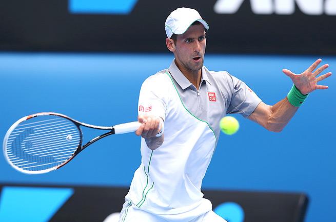 Novak Djokovic extended his winning streak to 26 matches, beating Leonardo Mayer in straight sets.