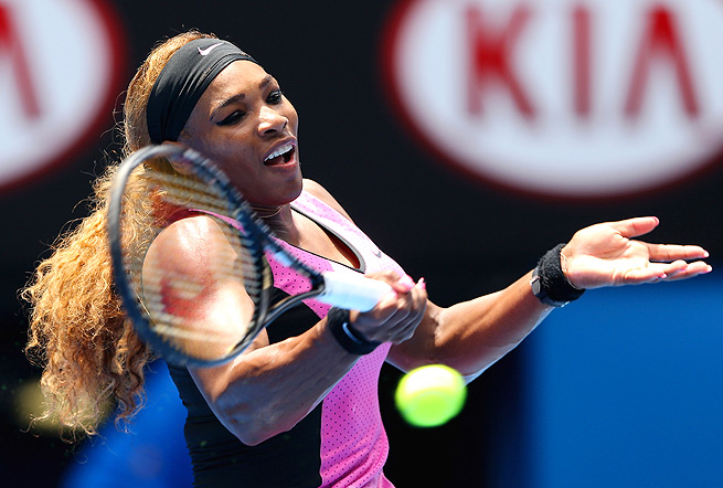 Serena Williams' aura can intimidate opposing players before they even leave the locker room.