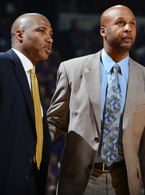 Nuggets head coach Brian Shaw (right) and assistant Lester Conner both blazed trails for other Oakland point guards to follow.