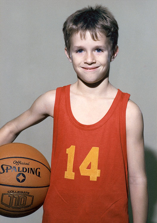 Brees played more than just football in his younger days, seen here posing for basketball.