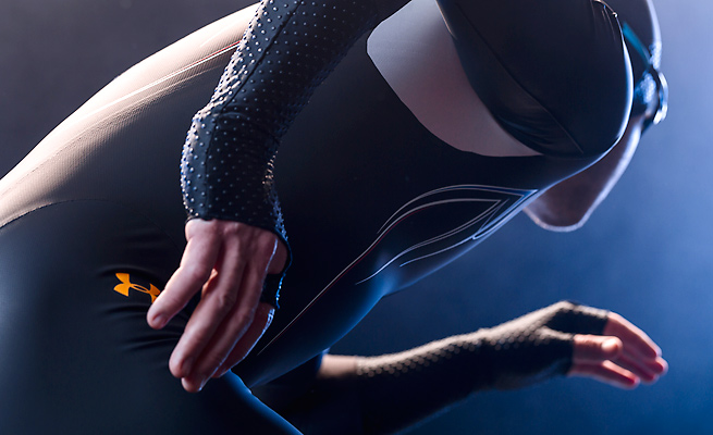 Under Armour partnered with Lockheed Martin to make the Mach 39 skins as aerodynamic as possible.