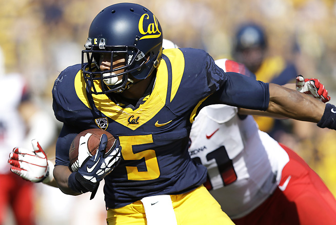 Cal RB Brendan Bigelow had a standout game against Ohio State in 2012, but struggled in 2013.