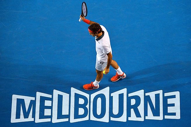 Roger Federer played on Hisense Arena, not Rod Laver Arena, for the first time in a decade.