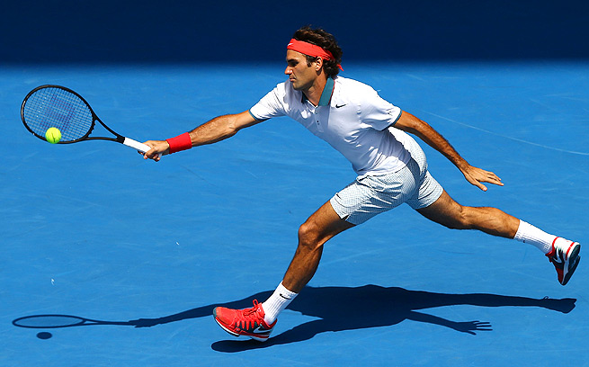 After playing his first match ever on Hisense Arena, Roger Federer returned to Rod Laver Arena for his third-round match.