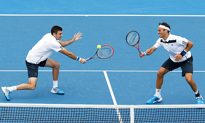 Ross Hutchins (right) and doubles partner Colin Fleming were disappointed by their second-round exit.