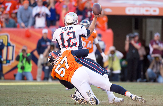 Tom Brady and the Patriots struggled to find any kind of rhythm in their 26-16 loss to the Broncos.