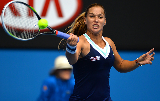 Dominika Cibulkova beat Maria Sharapova in three sets, knocking the women's tournament wide open.