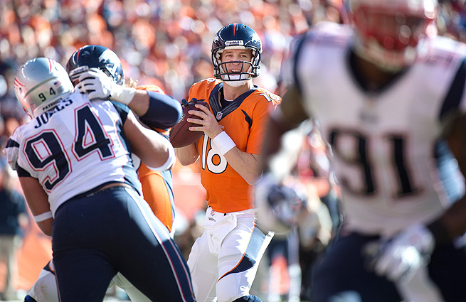 Peyton Manning will face the Seahawks in his third career trip to the Super Bowl.