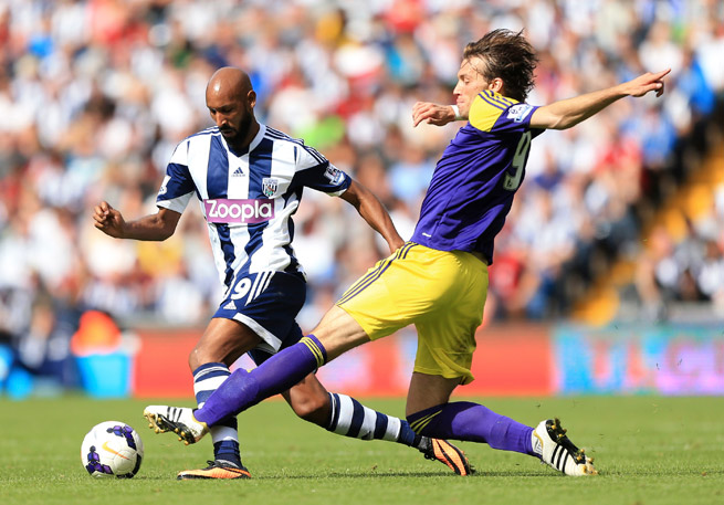 After being banned for a controversial gesture made, Nicolas Anelka, left, says he is departing West Brom.