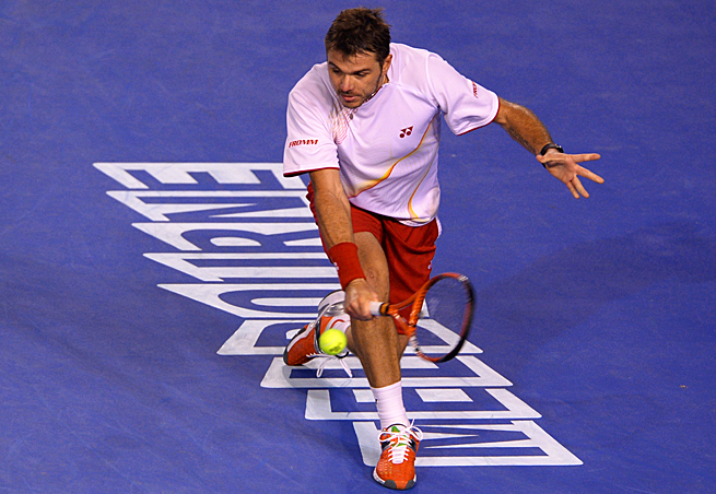 Stanislas Wawrinka broke Novak Djokovic's streak of reaching 14 straight semifinals at Grand Slams.