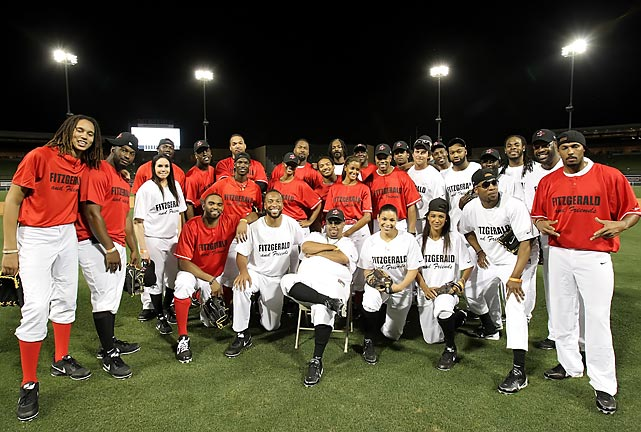 "Before the Richard Sherman-Michael Crabtree feud went viral after the NFC Championship game, the two were on opposite teams at Larry Fitzgerald's third annual celebrity softball game. It was during the event's after-party that night, however, that Sherman says things went sour between the two. ""It goes back to something he said to me this offseason in Arizona, but you'd have to ask him about that,"" Sherman wrote of Crabtree in his column this week on The MMQB. Here are some photos of the two along with other celebrity friends who graciously volunteered their time in support the top-notch charity event that benefits Fitzgerald's First Down Fund, whose mission is to make sure children and their families live fruitful and prosperous lives. <italics>(Sherman third from right, back row; Crabtree, eighth from right, back row.)</italics>"
