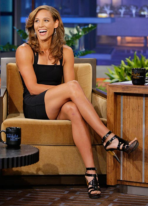 In the leadup to the Olympics, Jones appeared on The Tonight Show With Jay Leno.