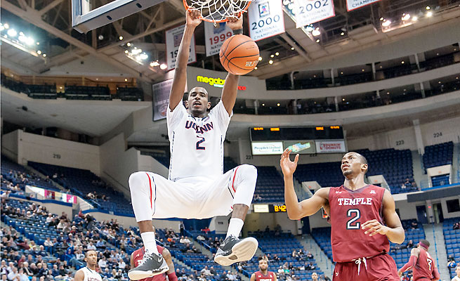 DeAndre Daniels averaged 16 points and 7.2 rebounds during the Huskies' NCAA tournament run.