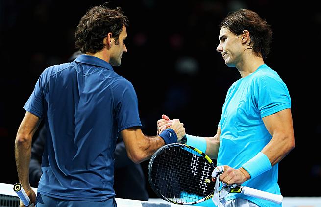 Roger Federer and Rafael Nadal last met at the ATP World Tour Finals in November. Nadal won 7-5, 6-3.