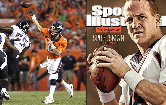 He has only been a Bronco for two seasons, but his time in Denver might solidify Manning as the greatest NFL quarterback of all-time. Most of his career accomplishments occurred in Indianapolis, but in two years Manning has already established himself as one of Denver's best quarterbacks statistically. In just two years, he has thrown 92 touchdowns, including his NFL record 55-touchdown effort this past season. He has led the Broncos to the best record in the AFC two straight seasons, including a Super Bowl berth this year. He has been first-team All-Pro in each of his two years with Denver. Manning may have played most of his career with the Colts, but his Broncos tenure has been one of the most impressive stretches by an individual player in NFL history.
