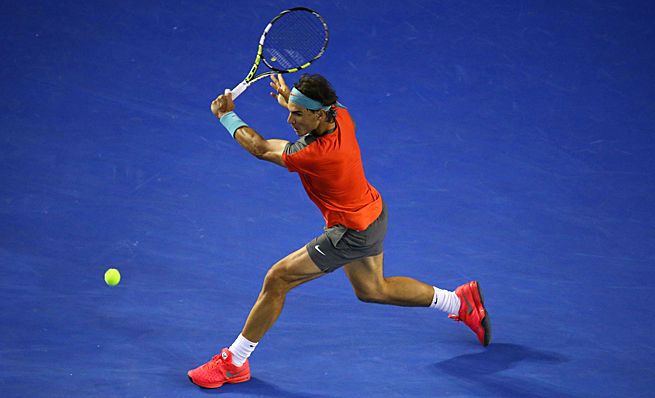 Rafael Nadal improved his career Grand Slam match record against Roger Federer to 9-2.