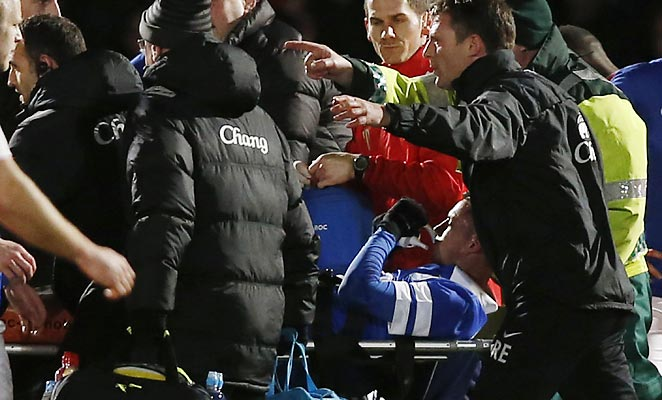 Bryan Oviedo suffered a suspected double fracture against Stevenage in the FA Cup on Saturday.