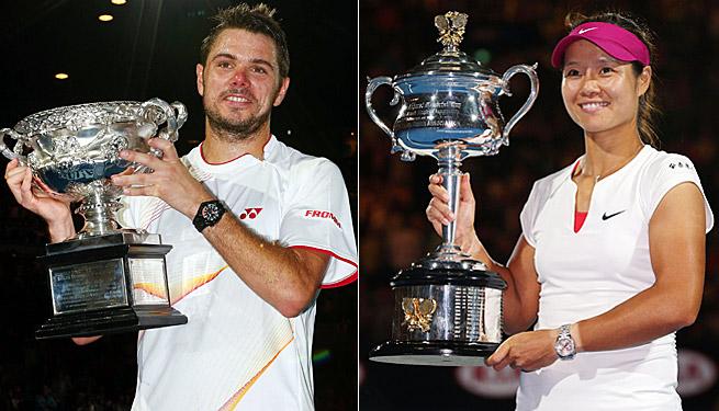 No. 8 Stanislas Wawrinka and No. 4 Li Na both won their first Australian Open titles.