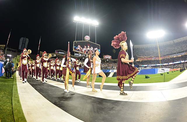 What would a game be without a little music? The USC Marching Band was the most unorthodox part of a lineup that included KISS and Five For Fighting.