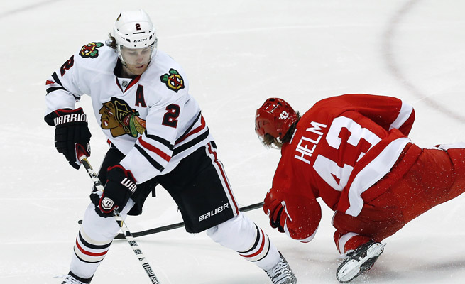 Duncan Keith missed his first game of the season Thursday. The blueliner leads Chicago with 43 assists.
