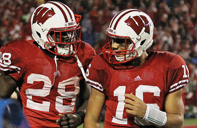 In 2011, Russell Wilson (right) and Montee Ball were nearly unstoppable for the Wisconsin Badgers.