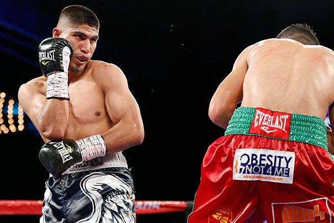 With his victory over Juan Carlos Burgos in late January, Mikey Garcia (left) ran his record to 34-0.