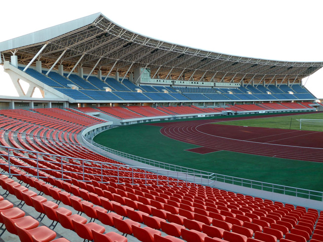 Zimpeto National Stadium in Maputo, Mozambique, is one of a number of stadia across Africa built with funds provided by the Chinese government.