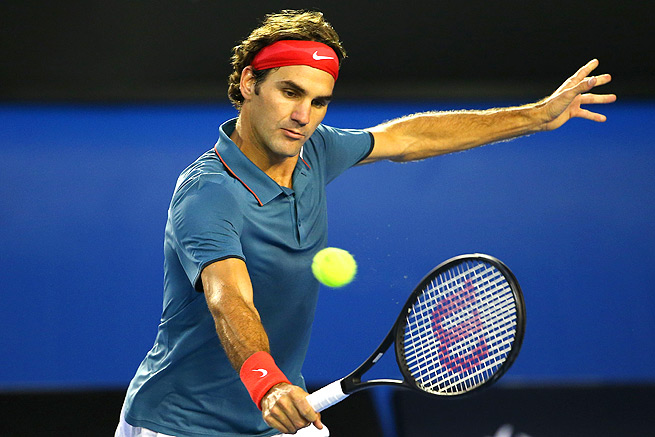 In their 33rd career match, Rafael Nadal defeated Roger Federer in straight sets in the Australian Open semifinals.