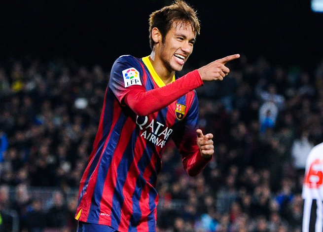 Barcelona sent Brazilian club Santos 17 million euros as part of its agreement to acquire Neymar.