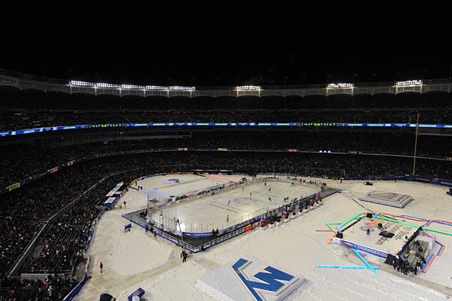 The first game at Yankee Stadium on Jan. 26 had featured an installment of the Hudson River rivalry between the Rangers and New Jersey Devils in daylight. Three frosty nights later, the Islanders arrived to battle the Broadway Blueshirts.
