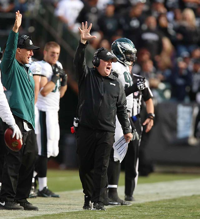 Chip Kelly had many doubters when the Eagles hired him from Oregon to run a face-paced, college style offense in the NFL. It didn't take long for him to prove he belonged. The Eagles finished 10-6 to win the NFC East in Kelly's first season at the helm, while his dynamic offense finished fourth in the league in points, second in yards and first in rushing. He made a star out of Nick Foles and it's safe to predict that coaches at all levels will copy Kelly's style.