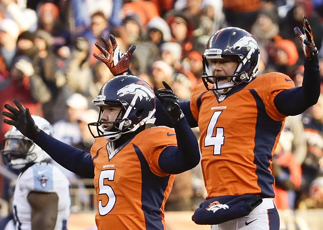 Broncos kicker Matt Prater broke the record for longest field goal in NFL history when he nailed a 64-yarder Week ___ against the Titans. Prater's 64-yard bomb broke a four-way tie atop the all-time leader board by one yard.