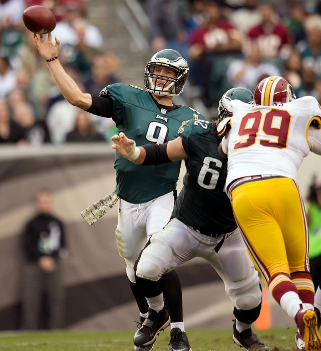 Nick Foles never looked back after replacing Michael Vick in Week 5. Foles went to on throw 27 TDs with only two interceptions while racking up 2,891 passing yards in 13 games. Foles finished with a league-leading QB rating of 119.2 and proved to be a perfect fit for Chip Kelly's fast-paced offense. The Eagles have found their quarterback of the future... and present.