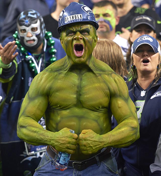 The Seahawks fans are known as the 12th man, and the 12th man was arguably the team's MVP in 2013. The Seahawks went 7-1 at CenturyLink Field en route to a 13-3 record and eventual berth in the Super Bowl, which Seattle won. The 12th man reached a world-record noise level of 137.6 decibels when Seattle hosted the Saints on Monday Night Football in December. A measly 12.4 decibels from the level that will, literally, explode eardrums. Yeah, they're loud.
