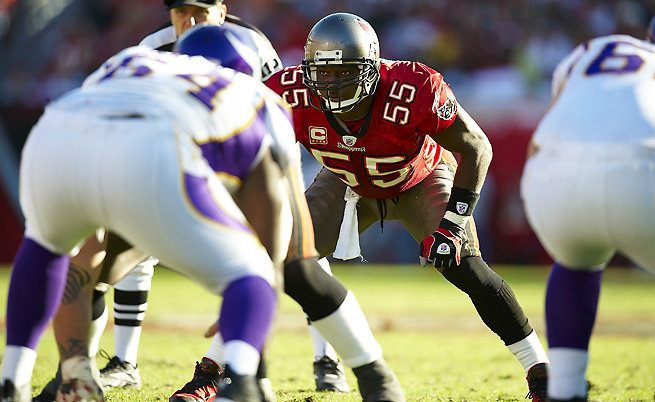 Buccaneers linebacker Derrick Brooks was one of seven players elected to the NFL Hall of Fame.