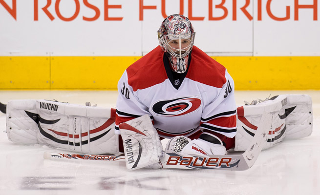 Cam Ward hasn't seen NHL action since Dec. 31, missing 14 games with a lower body injury.