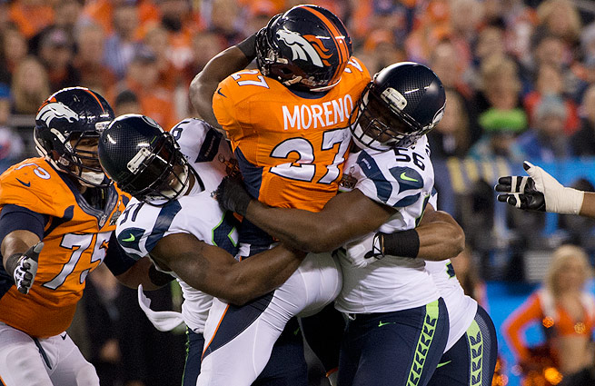 The Broncos averaged almost 38 points a game in the regular season. Seattle limited them to just eight.