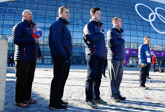 Steven Holcomb (left) and his teammates arrived to Sochi early to help acclimate to the situation.
