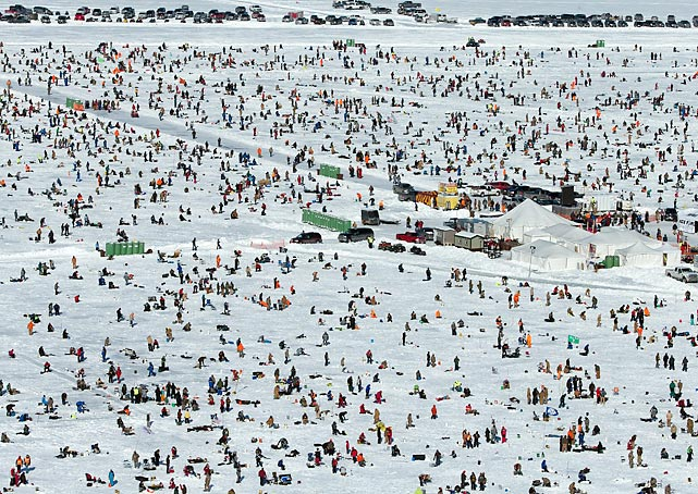 In late January, thousands of people descended upon Gull Lake near Brainerd, Minnesota for the world's largest charitable ice fishing contest.