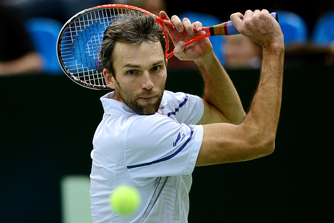 Ivo Karlovic tied Mark Philippoussis' ATP record of 44 aces in a best-of-three match.