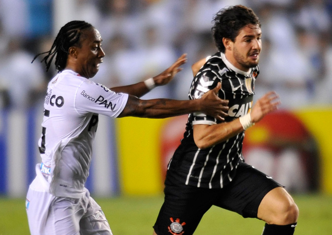 Alexandre Pato (right) was traded from Corinthians in his first season with the club.