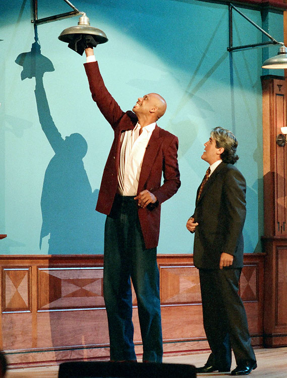 Kareem Abdul-Jabbar used his height to help Jay Leno change a lightbulb.