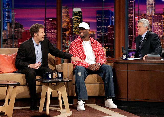 Texas quarterback Vince Young had barely scored the winning touchdown against USC in the Rose Bowl to clinch the 2005 National Championship before he appeared with Leno. Devout USC alum Will Ferrell must have been thrilled to see him.