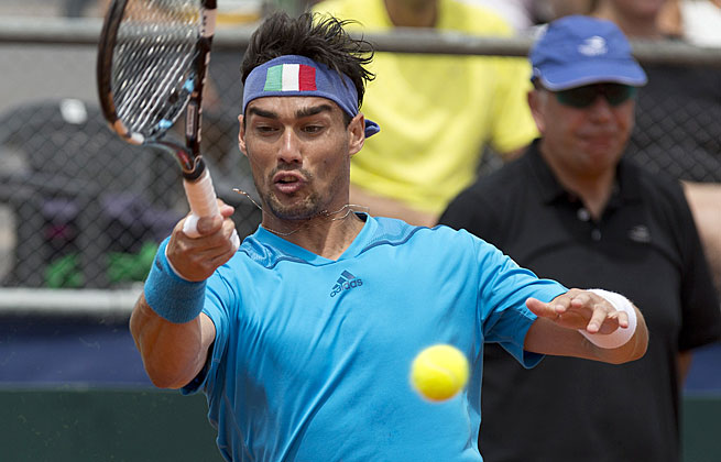 Fabio Fognini won in straight sets in Chile to reach the quarterfinals of the Royal Guard Open.