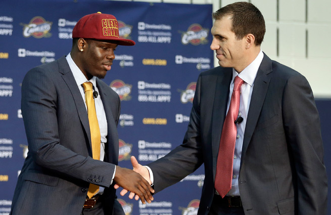 Ex-Cavs GM Chris Grant (right) was put in the undesirable position of having top picks in weak drafts.